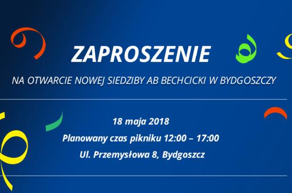 Nowa siedziba oddziału AB Bechcicki w Bydgoszczy – zaproszenie na piknik